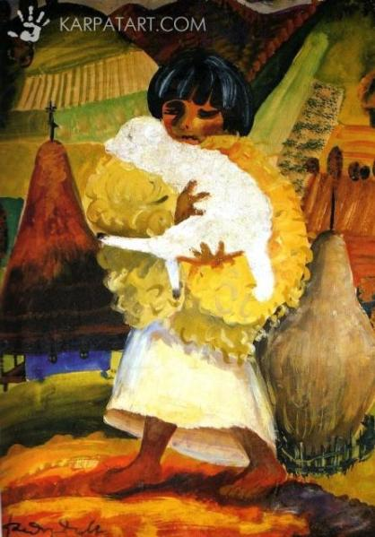 Boy with Lamb (1939) by Fedir Manaylo Source: http://karpatart.com/en/exhibitions/69/carpathian-geniys-19-fedir-manaylo.html