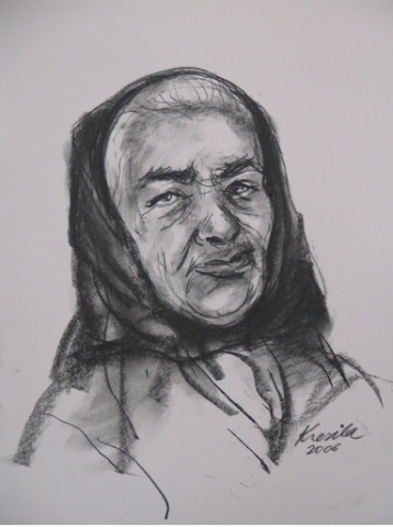 A portrait at the Seniors Community Center in Nova Sedlica by Juraj Kresila