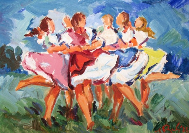 Dancers by Mikulas Rogovsky Source: Humenne Museum