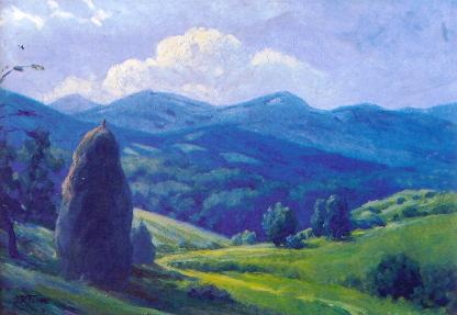 The Mountain View (1948) by Emil Hrabovskyi Source: Old Cherdak